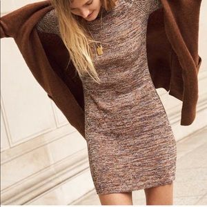 Madewell Marled mockneck sweater dress